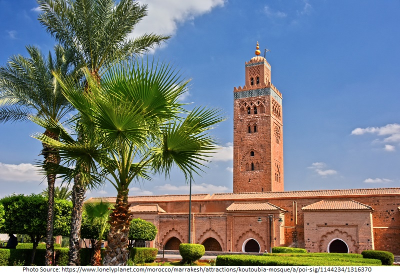 Tourist Attractions in Koutoubia Mosque