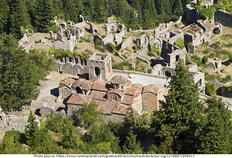 Tourist Attractions in Mystras