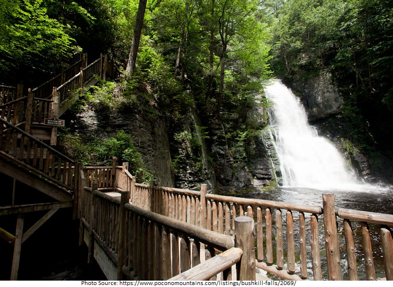 tourist attractions in Bushkill Falls