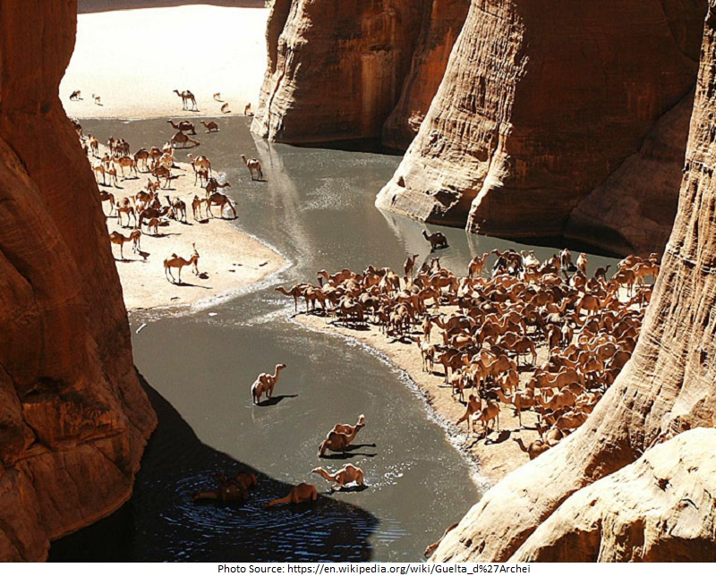 tourist attractions in Guelta d'Archei