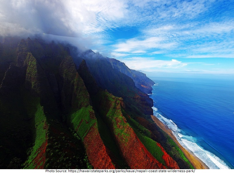 tourist attractions in Napali Coast State Wilderness Park