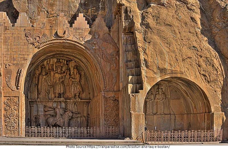 tourist attractions in Bisotun and Taq-e Bostan