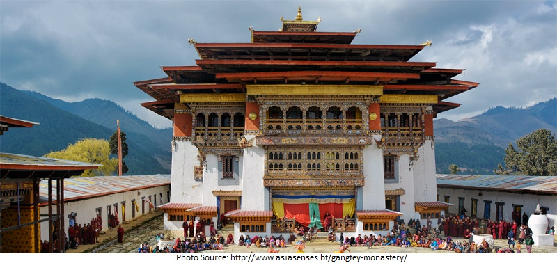 tourist attractions in Gangtey Monastery