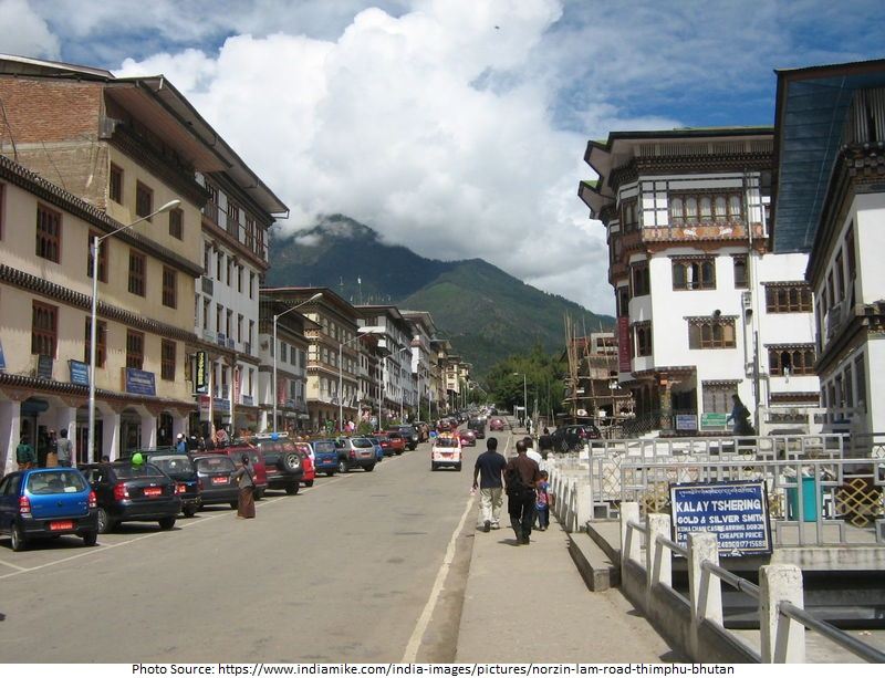 tourist attractions in Norzin Lam Street