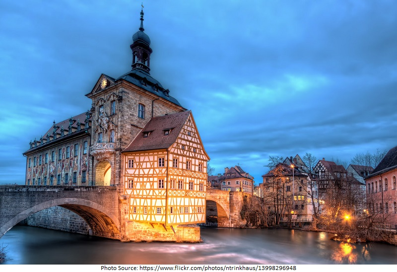 tourist attractions in Old Town Hall at Bamberg