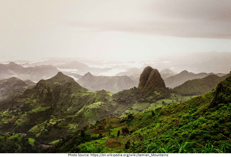 tourist attractions in Simien Mountains