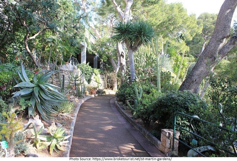 tourist attractions in The St. Martin Gardens
