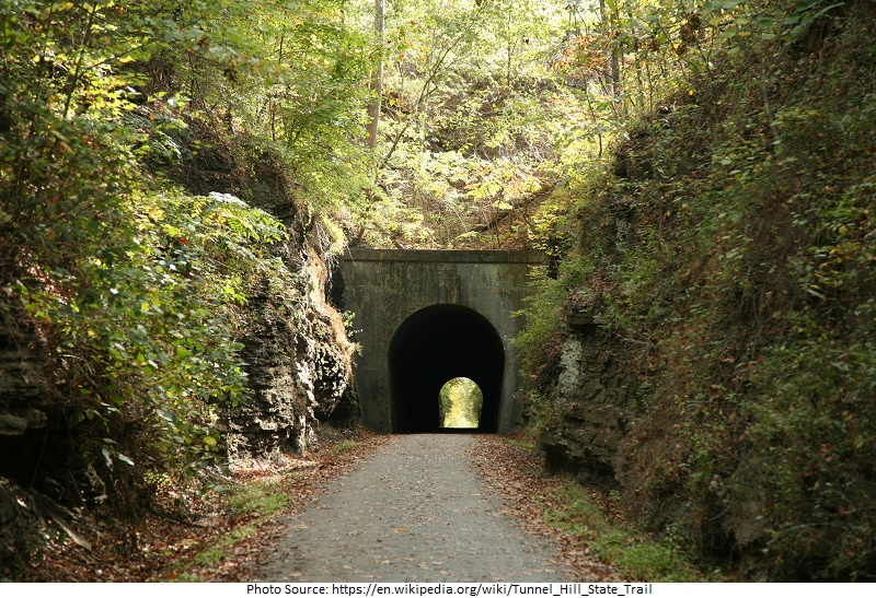 tourist attractions in Tunnel Hill State Trail