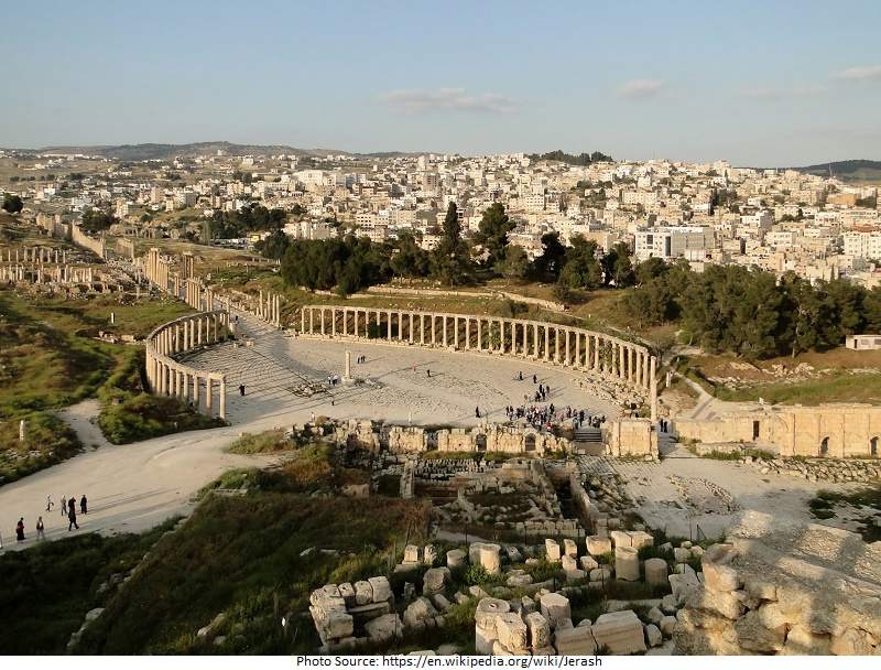 tourist attractions in Jerash